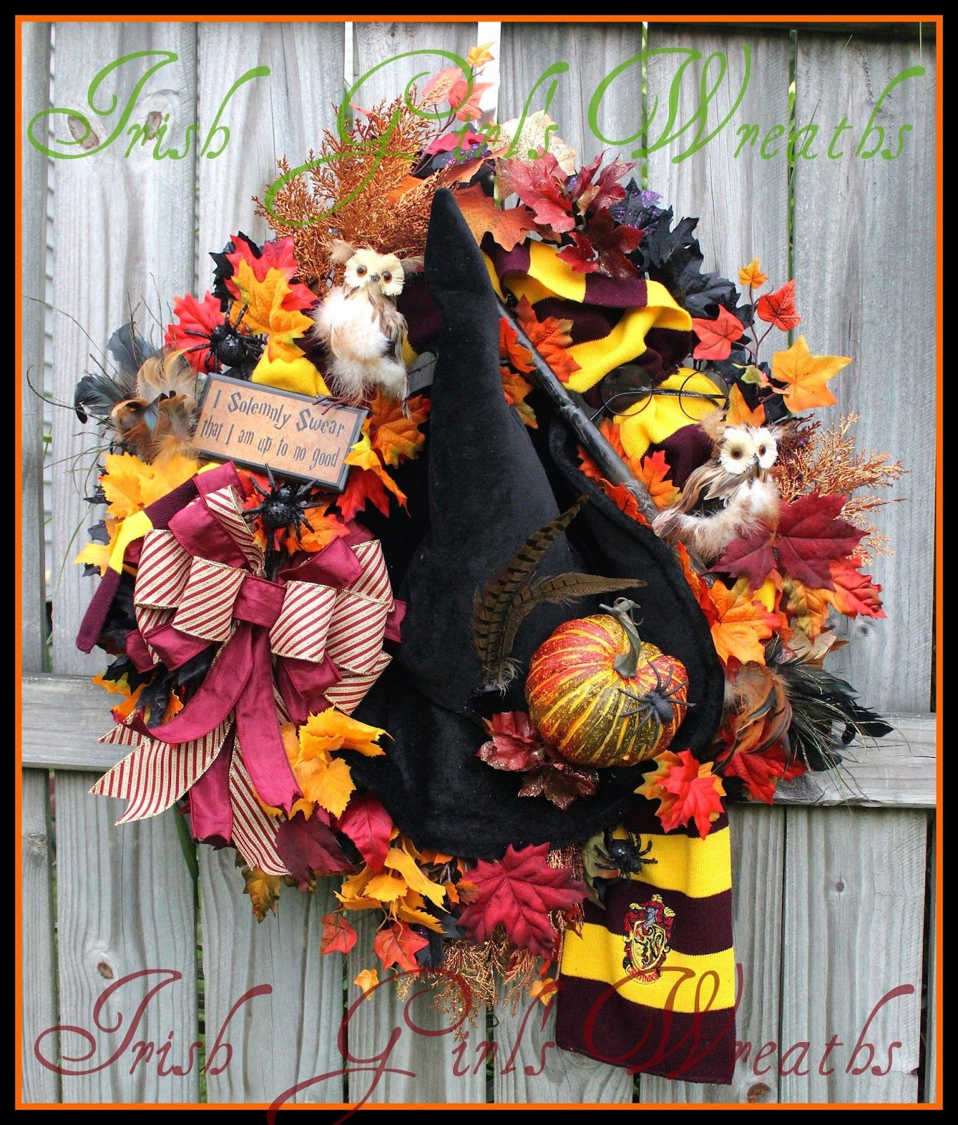 igw gallery harry potter hogwarts halloween wreath owl prof mcgonnagall witch hat - Hogwarts Halloween