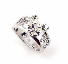 mickey mouse wedding ring set | ... 18KGP 2.5ct Disney Mickey ...