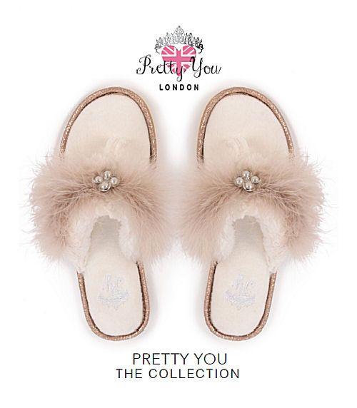 Pretty You London Eliza Cream Slipper