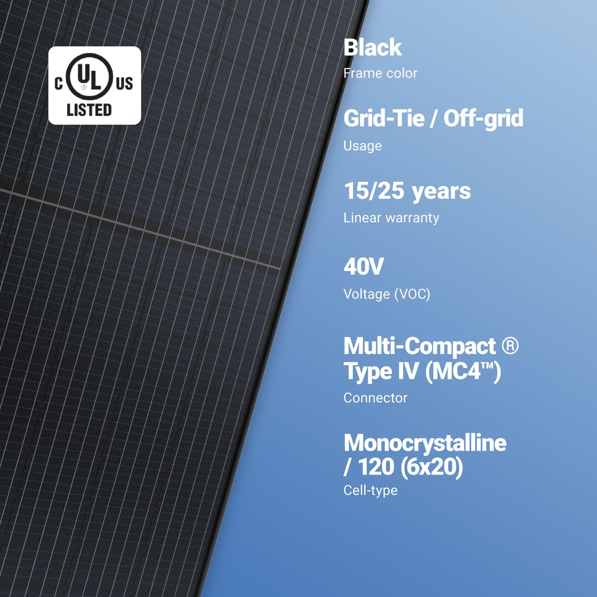 Axitec 310w Solar Panel 120 Cell Axiblackpremium Hc 310m Monocrystalline A1 Solar Store In 2020 Solar Module Solar Panels Solar