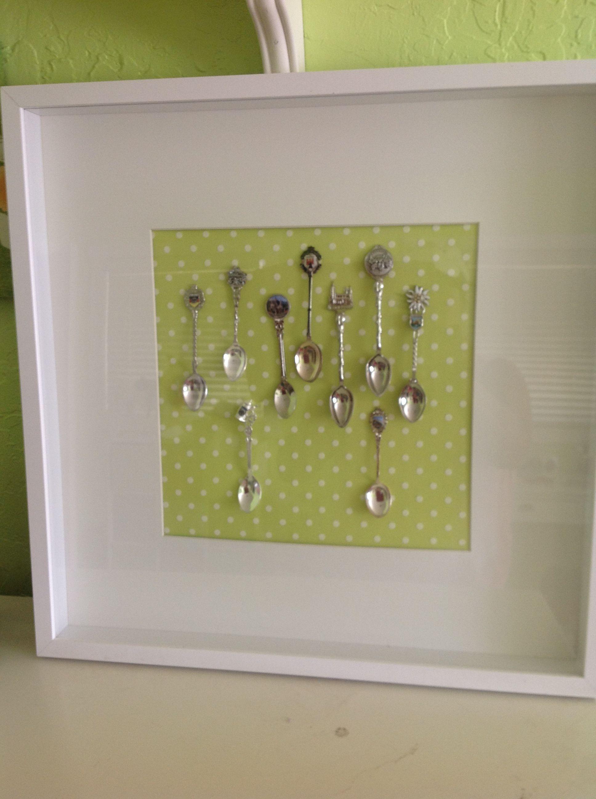 Souvenir Spoon Display Cheap Frame From Ikea Scrapbook
