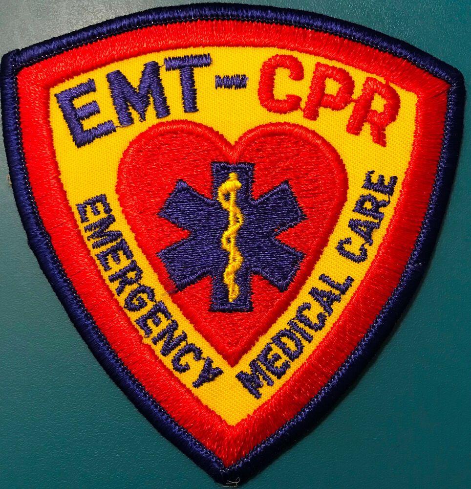 Emt cpr emergency medical care patch emergency medical