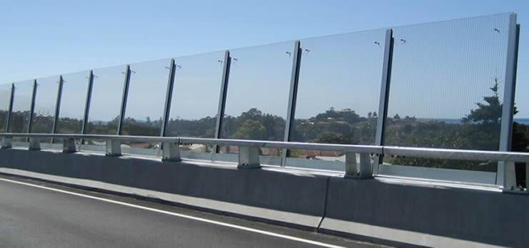 Acrylic Sound Barrier Installed Along A Highway Which Crosses The Residential Area Acoustic Barrier Noise Barrier Sound Barrier