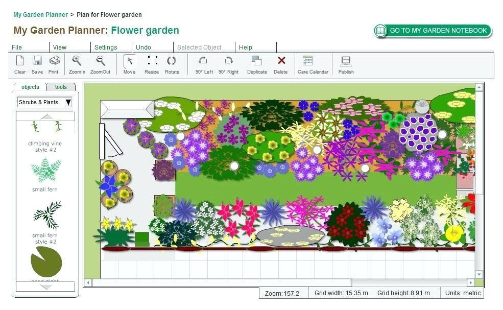 perrenial garden layout garden layout planner online ...