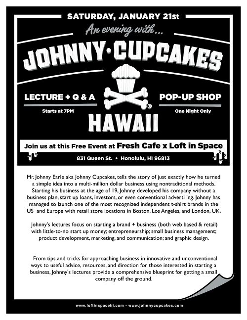 Johnny Cupcakes silly name no business plan millionaire - fresh blueprint paper name