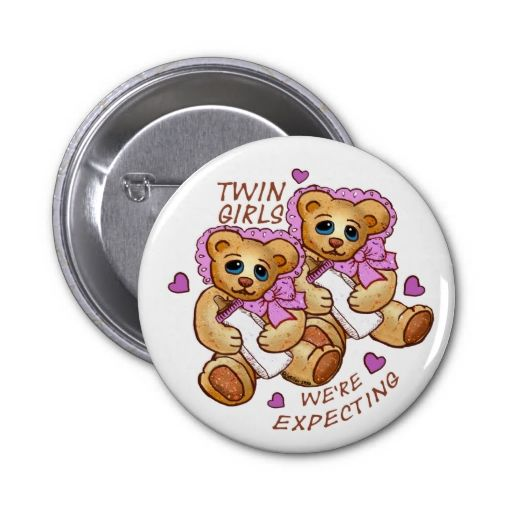 Expect Twin Girls Pins