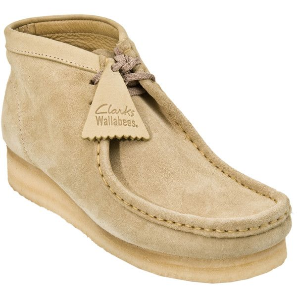 Clarks Originals Wallabee Boot Womens (185 SAR) ❤ liked on