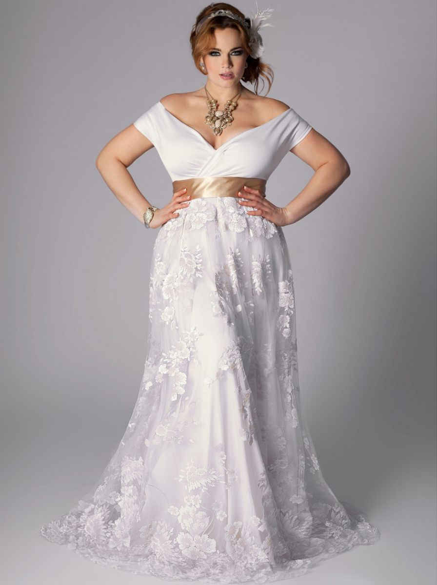 Plus size wedding dresses with sleeves photo gallery of the