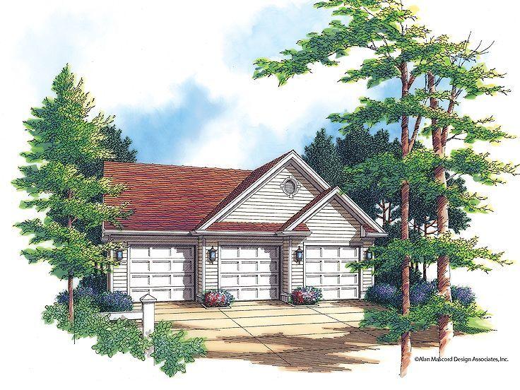 3 Car Garage Plans Colonial Style Homes Garage House Plans Garage Plans
