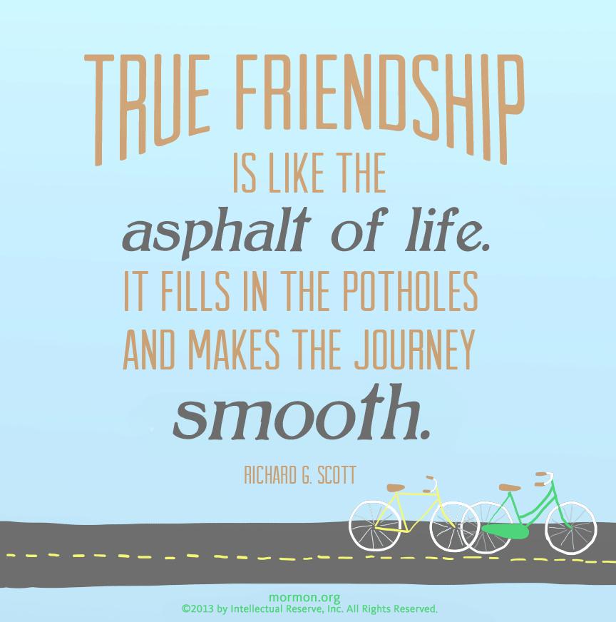 LDS on friendship | lds.org | Pinterest