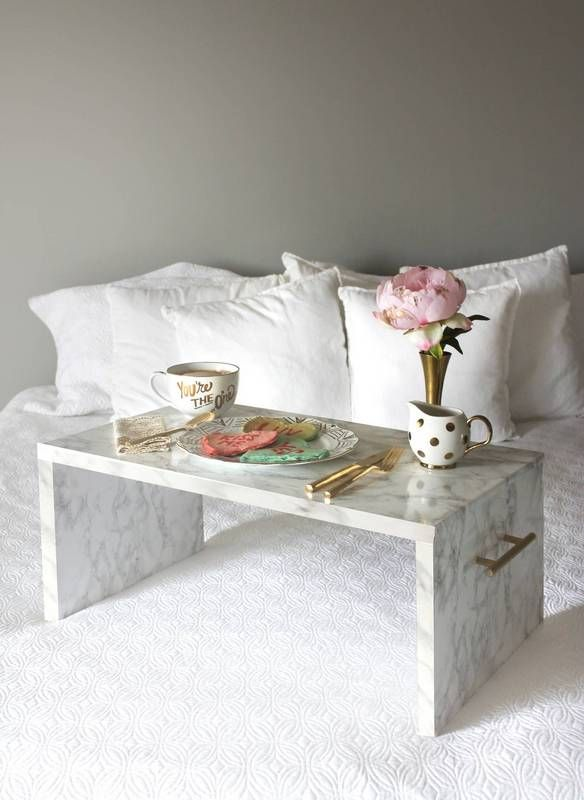 15 Diy Ideas With Faux Marble Domino Bed Tray Diy Home Decor