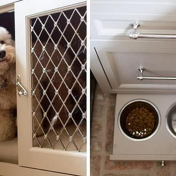 Kitchen With Pull Out Pet Food Bowls Stuffed Animal Storage