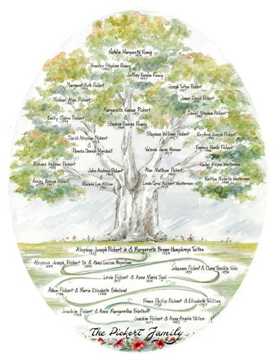 the pickert family tree is a cross between a custom and a genealogy