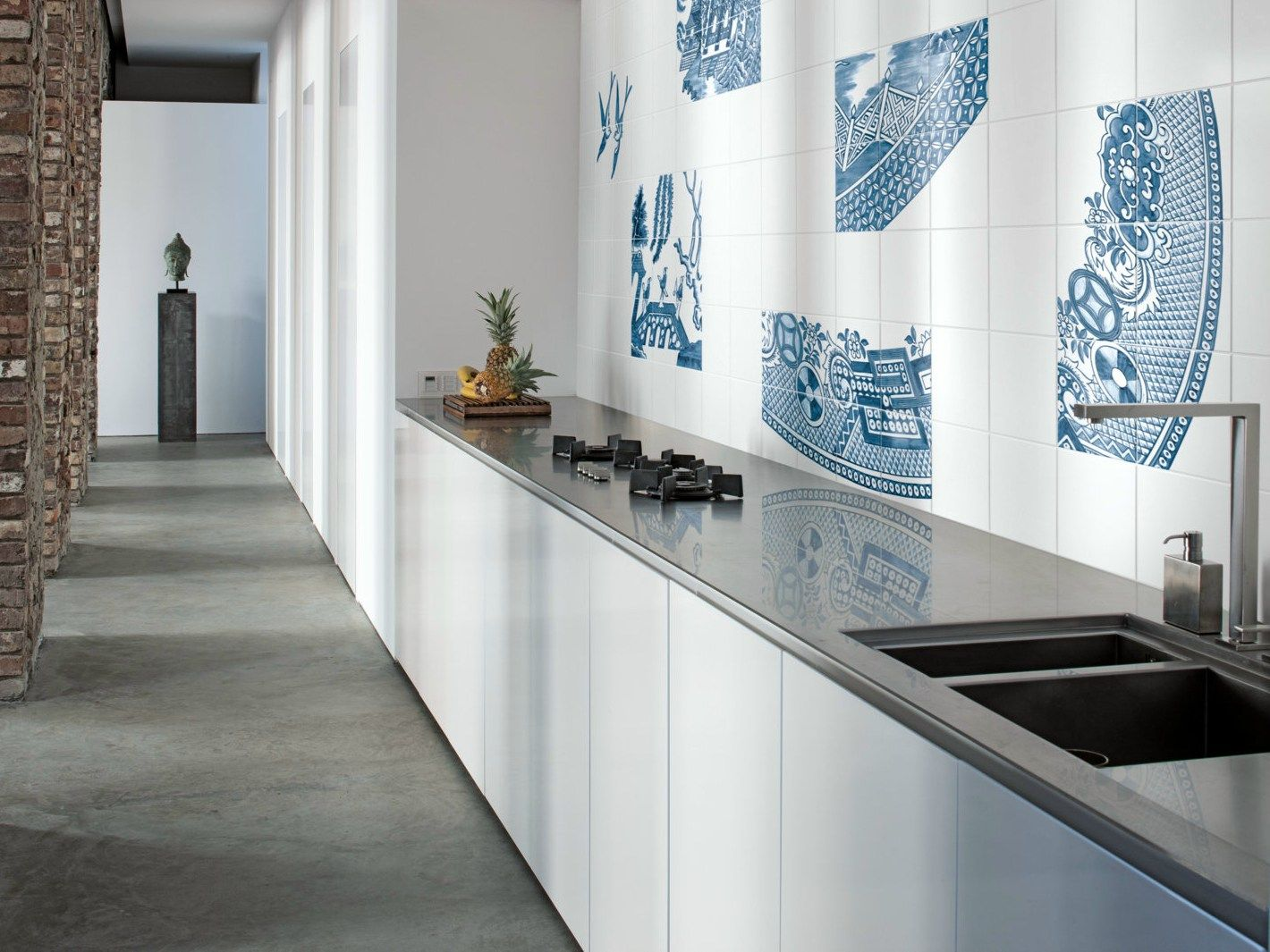 Double Fired Ceramic Wall Tiles BLUE WILLOW By Ceramica Bardelli Design  Robert Dawson