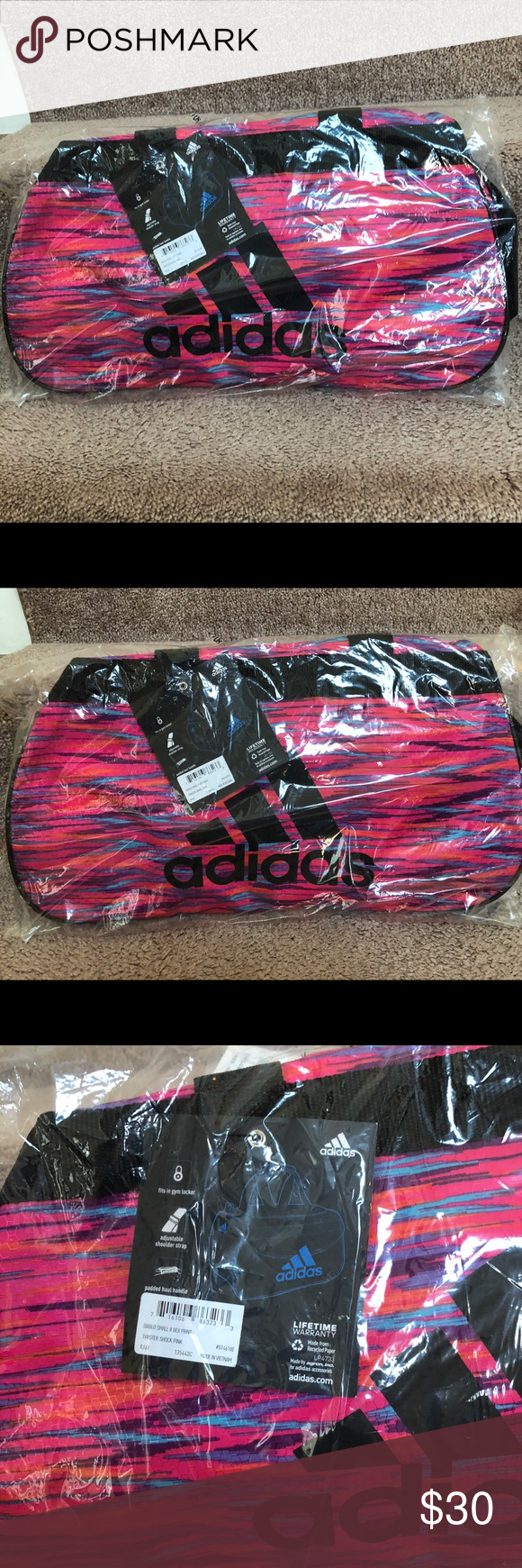 3e660aaa3e Adidas Diablo Small Hex Duffel Gym bag —New Brand new Color  pink  black