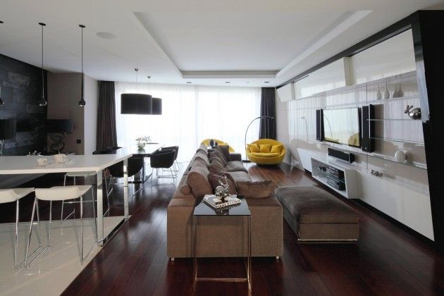 Apartment Interior by Geometrix Design INTERIOR DESIGN Pinterest