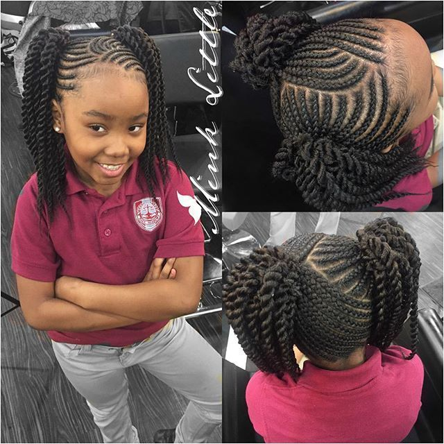 Kids Protective Hairstyles For Black Girls 1458 Best Images About Kids Hair Styles On Pin Lil Girl Hairstyles Girls Hairstyles Braids Kids Braided Hairstyles
