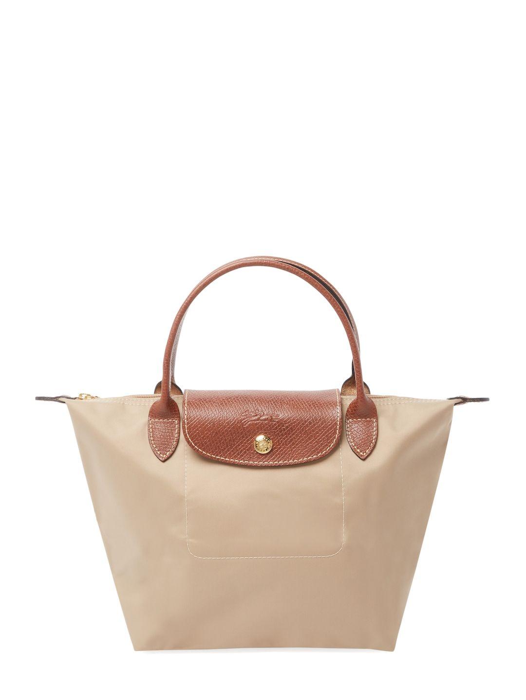 a8f4589127a LONGCHAMP WOMEN S LE PLIAGE SHORT HANDLE SMALL NYLON TOTE - BEIGE KHAKI.   longchamp  bags  leather  hand bags  nylon  tote
