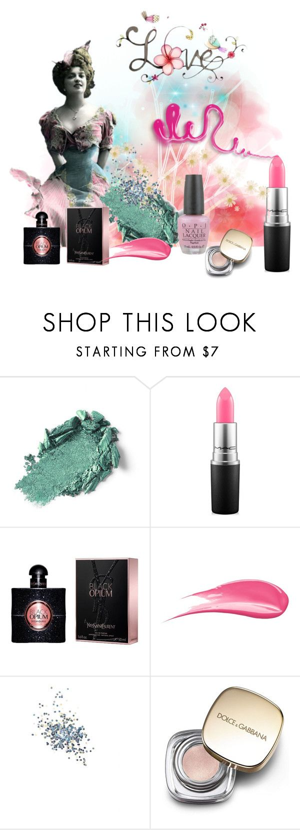 """Pastel Princesses"" by bonnieemme ❤ liked on Polyvore featuring beauty, MAC Cosmetics, Yves Saint Laurent, Hourglass Cosmetics, Topshop, Dolce&Gabbana and OPI"