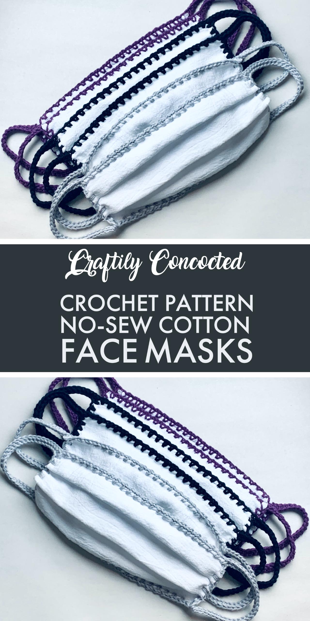 Crochet Pattern - No-Sew Cotton Fask Masks