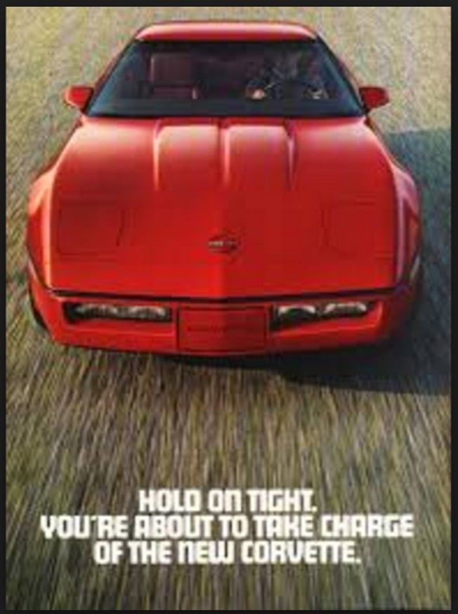 Hold On Tight 1983 Road Track Fold Out Corvette Ad My Corvette Ads Pinterest Corvette Cars And Corvette C4