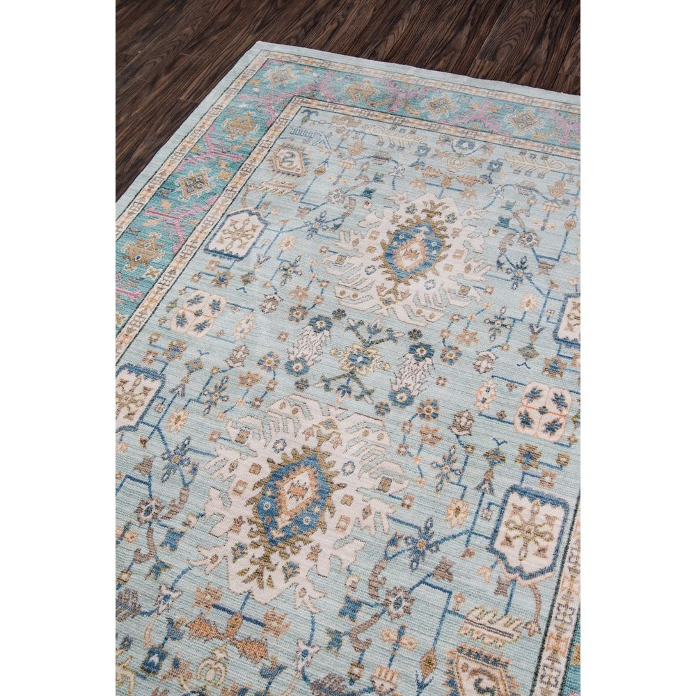 World Menagerie Victoria Light Blue Area Rug Size