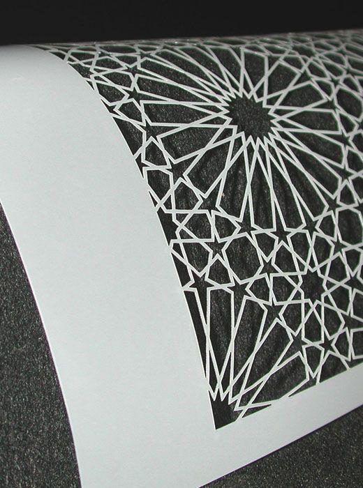Islamic Star Pattern Cutting. Geometric Design