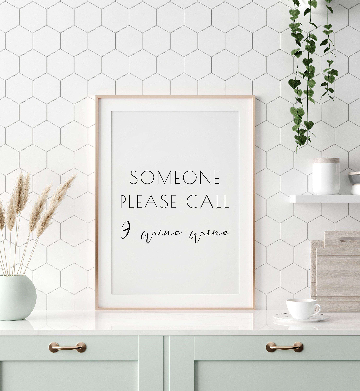 Kitchen Wall Decor Printable Quote Art Typographic Print   Etsy ...