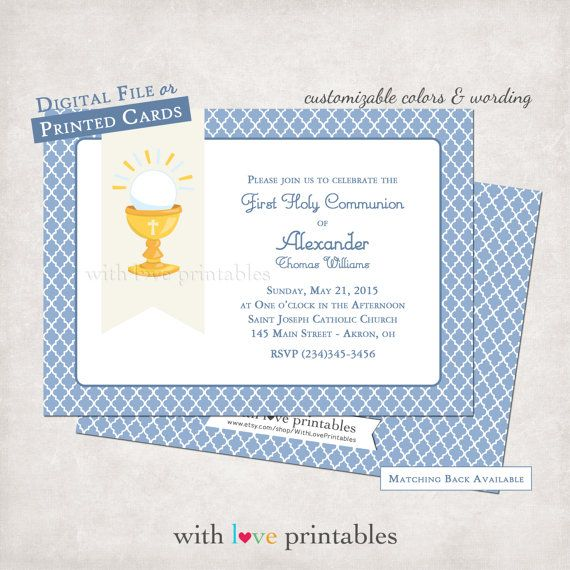 1st holy communion invitations baptism religious confirmation 1st holy communion invitations baptism religious confirmation christening printable print your own custom birthday stopboris Images