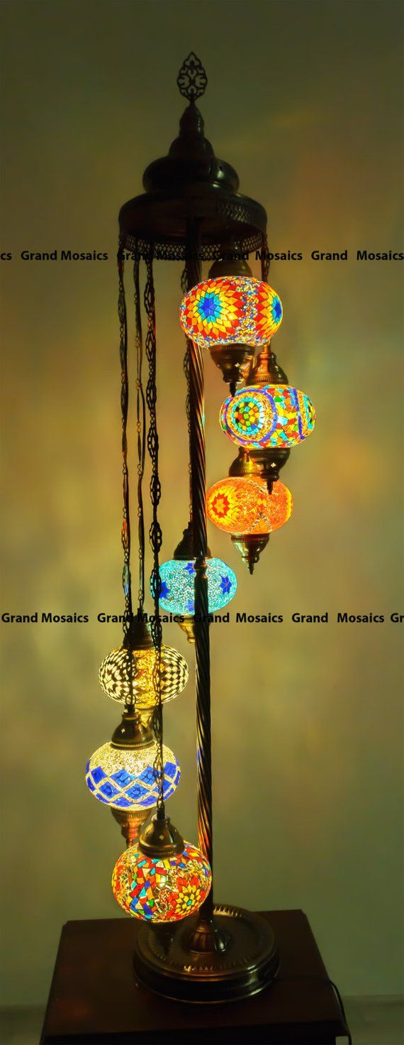 Floor lamps,Turkish lamps,boho henna decor,bohemian ...