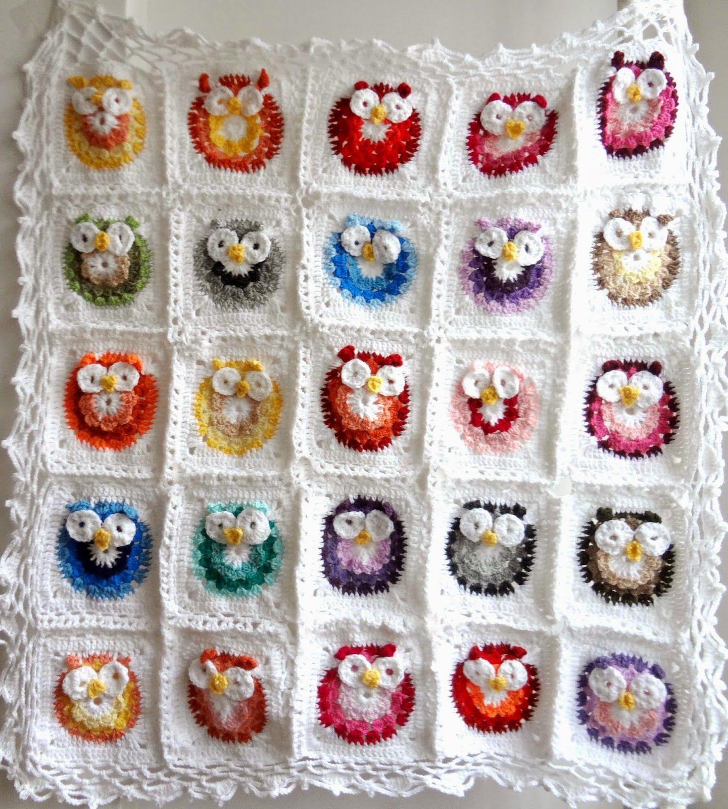 Owl blanket crochet pattern crochetholic hilariafina owl blanket crochet pattern bankloansurffo Image collections
