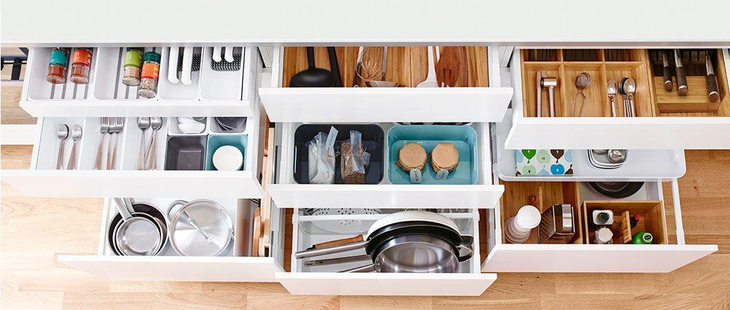 IKEA-keittiökaappien sisusteet | Dream home - kitchen | Pinterest