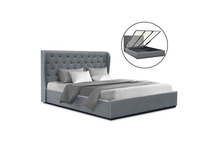 Artiss King Size Gas Lift Bed Frame Base With Storage Mattress