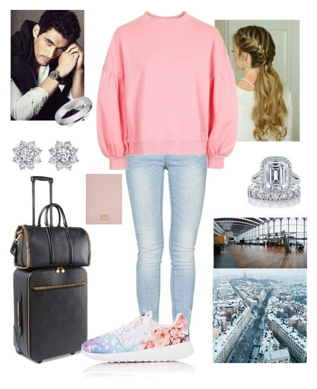 """""""Leaving from Maurícius and arriving to Stockholm"""" by princess-isabelle-of-sweden ❤ liked on Polyvore featuring ONLY, Topshop, STELLA McCARTNEY, NIKE, Tiffany & Co., Massimo Dutti, Blue Nile, Harry Winston and Dolce&Gabbana"""