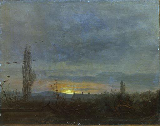 catonhottinroof:  Johan Christian Dahl  Sonnenuntergang bei Dresden