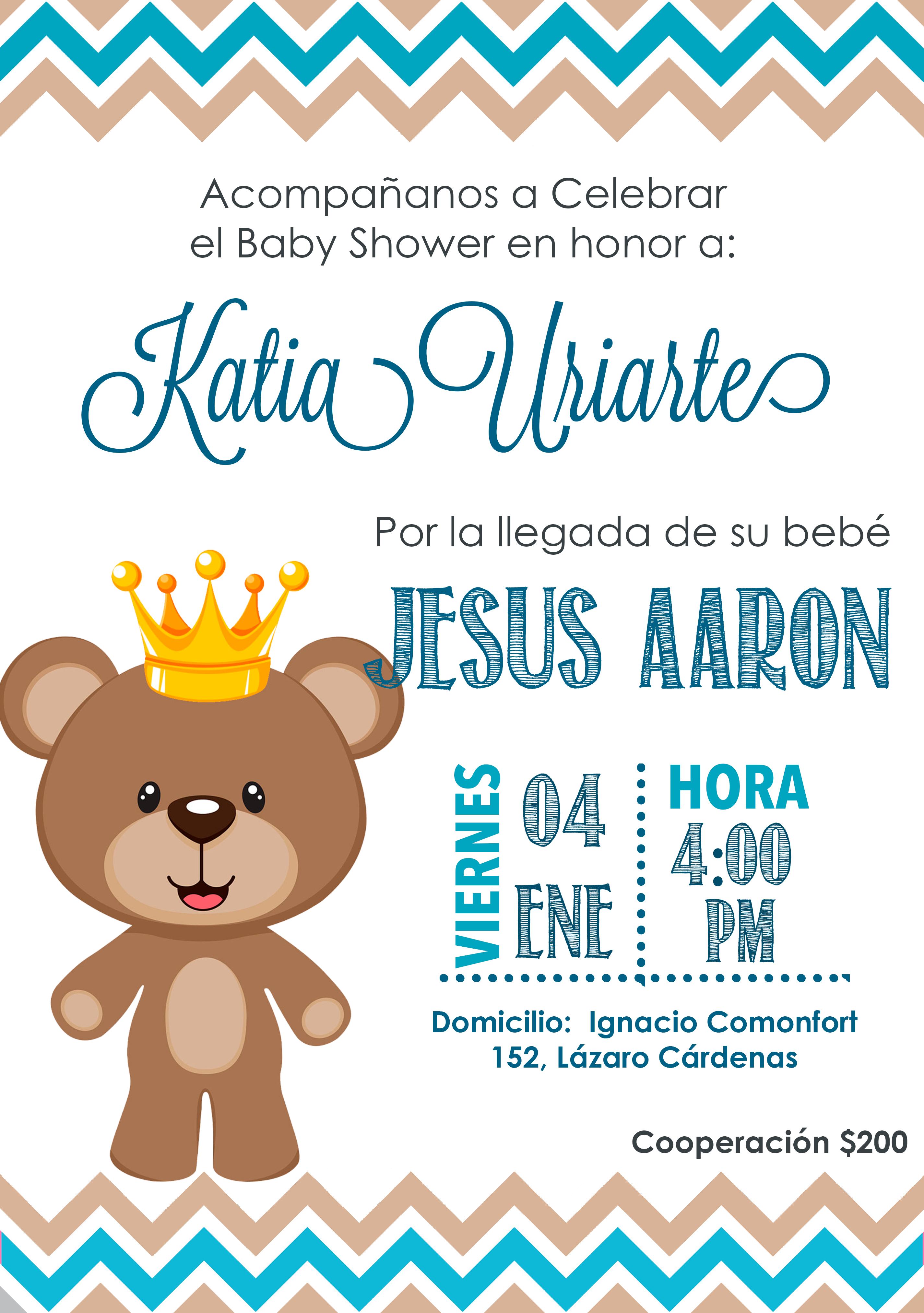 Invitación Baby Shower Niño Invitaciones Para Baby Shawer