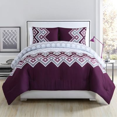 Buy Vcny Katya Reversible Full Comforter Set In Plum From