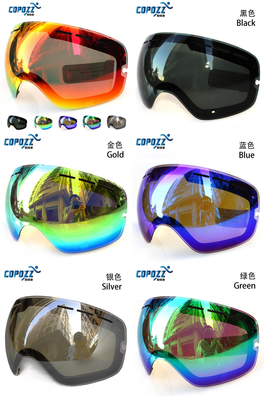 814bfcdc7146  Visit to Buy  Lens for ski goggles COPOZZ GOG-201 anti-fog UV400 large  spherical ski glasses snow goggles eyewear lenses  Advertisement