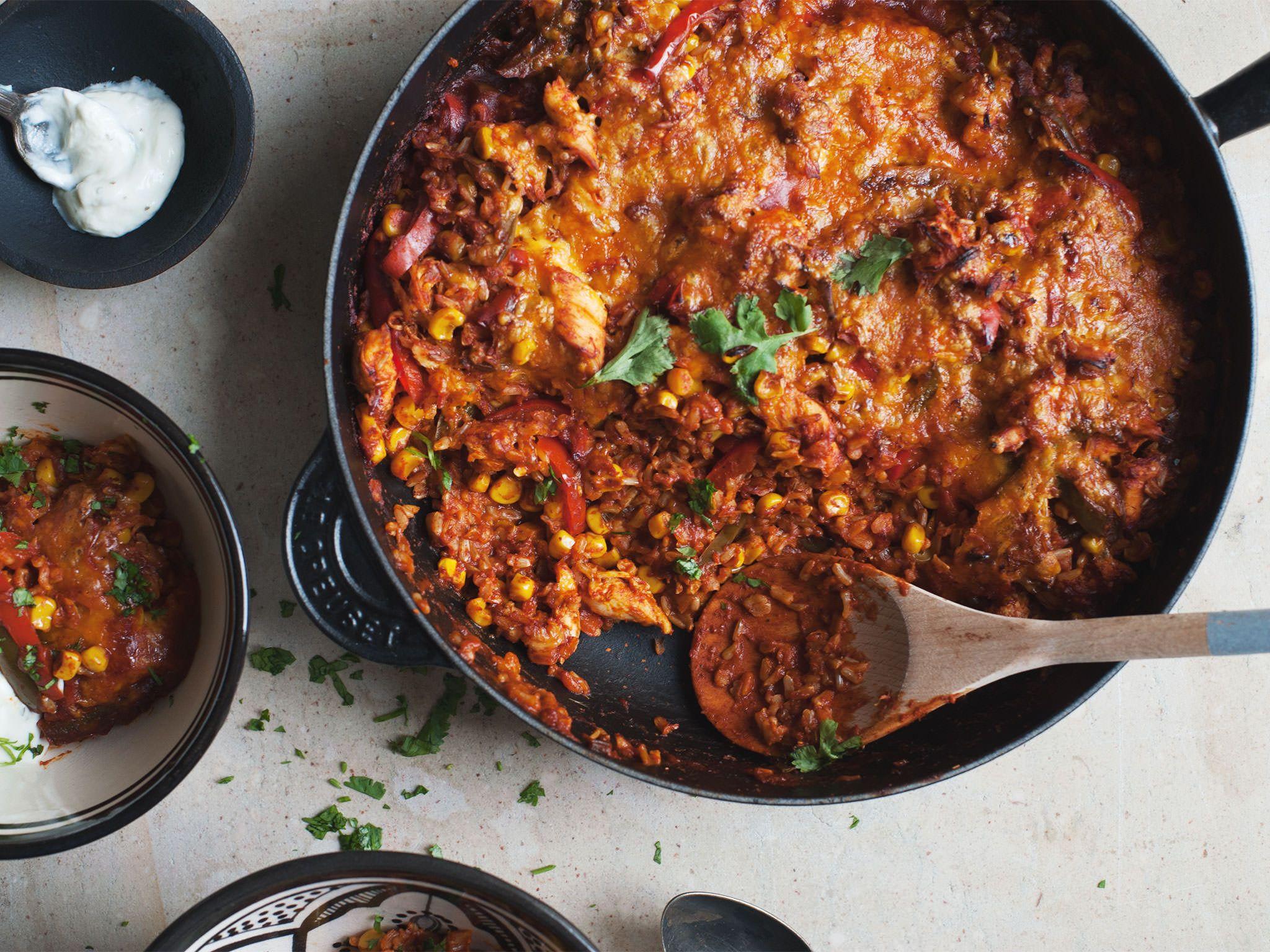 Mexikanischer Hähnchen-Reis-Auflauf | Rezept | Kitchen Stories