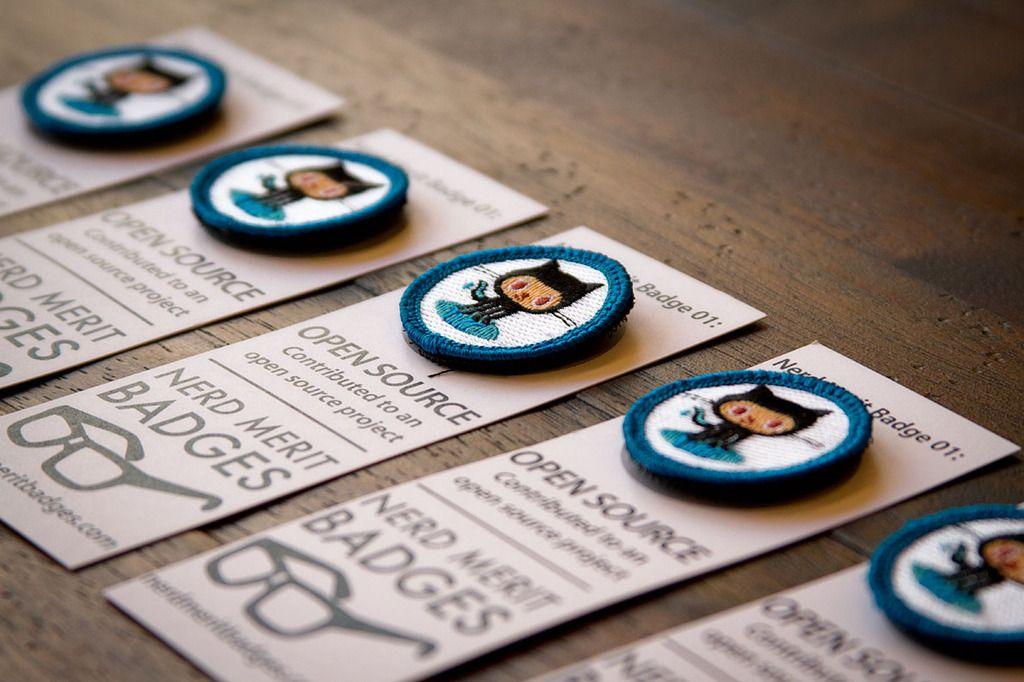 github : Open Source Nerd Merit Badge - $5.99