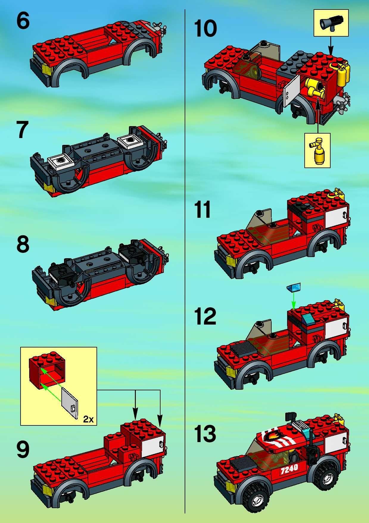 City Police Rescue - Fire Headquarters [Lego 7240]