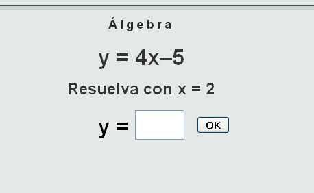 Álgebra Test interactivo que permite practicar resolución de ...