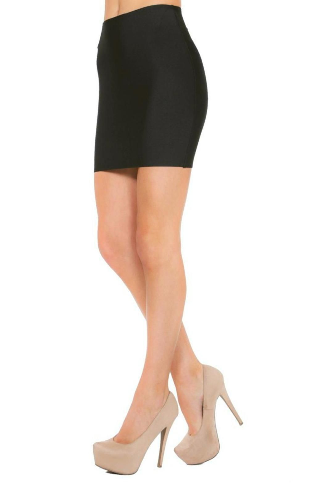 5dfb7f76cef356 Black bandage bodycon mini skirt featuring thick luxe fabric that hugs  every curve. This sexy skirt is a must-have this season! Black Bandage Mini  by ...