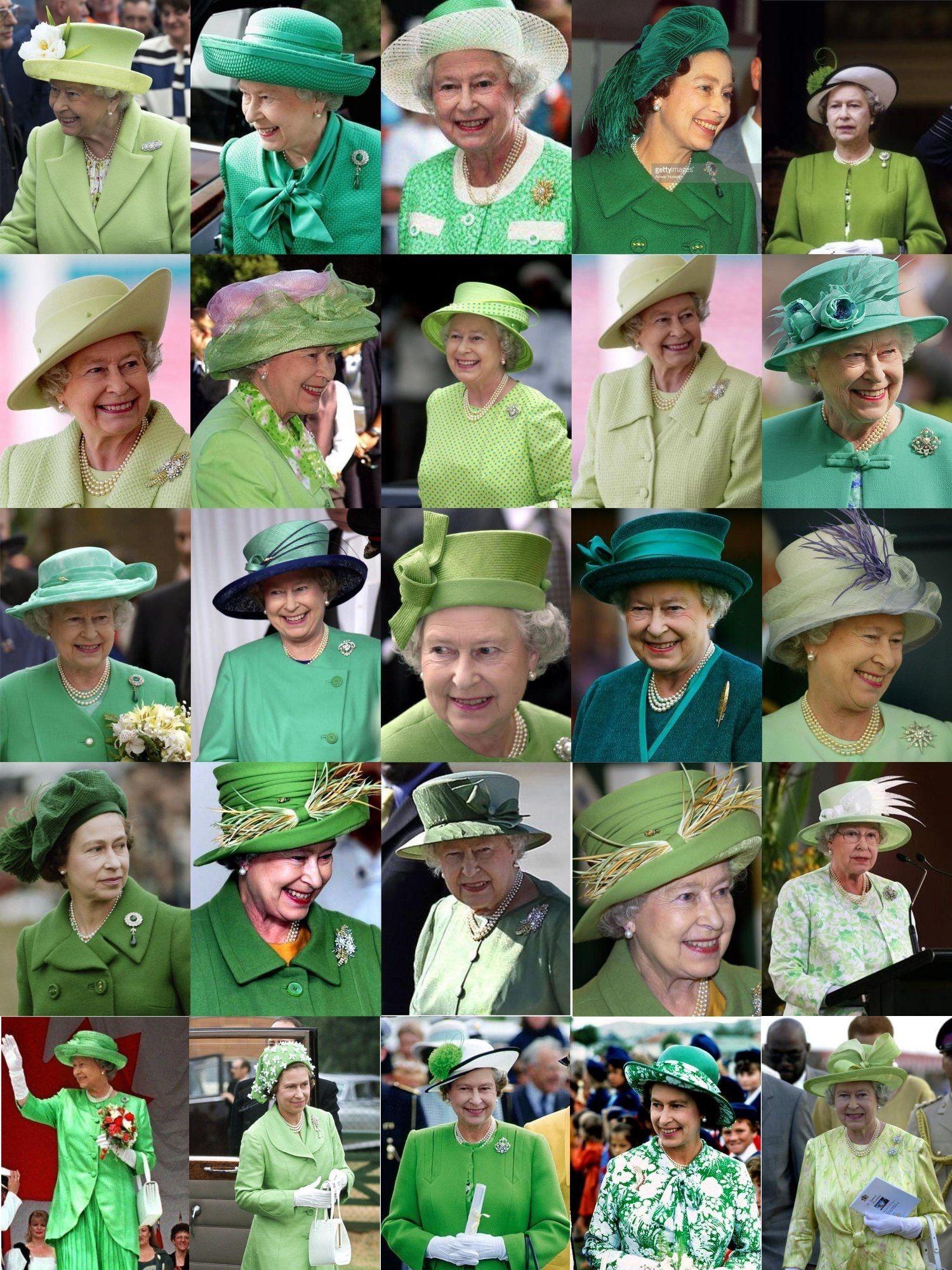 Her Majesty Queen Elizabeth Ii In Every Shade Of Green Regina Elisabetta Elisabetta Ii Belle Immagini [ 2000 x 1500 Pixel ]
