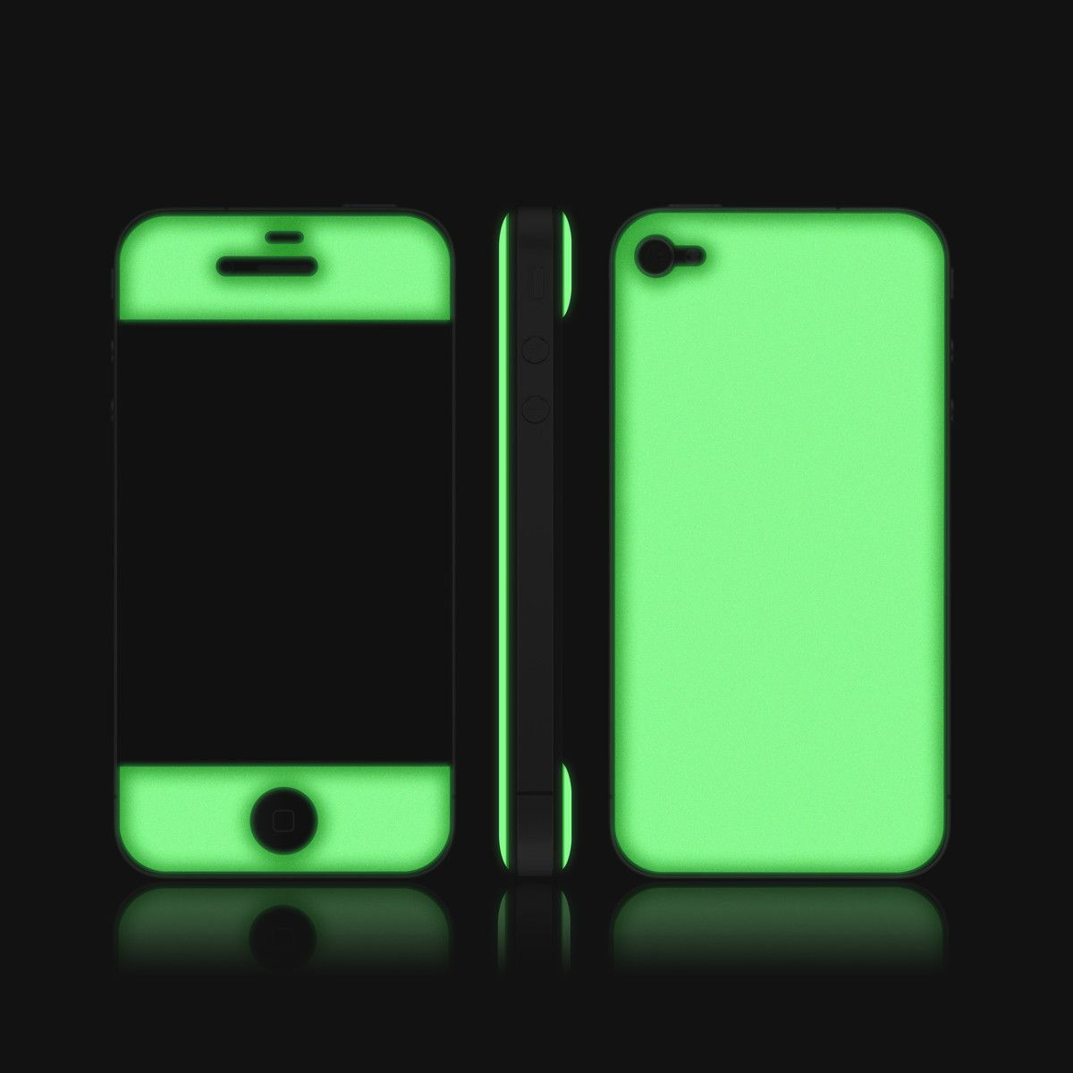 iPhone 4/4S Glow Gel Apple by Adaptation LA Iphone skins
