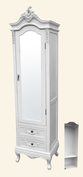 Charmant Chateau Narrow Mirrored Armoire Based On The Original Chateau Amoire This  Narrower Version Has One Door