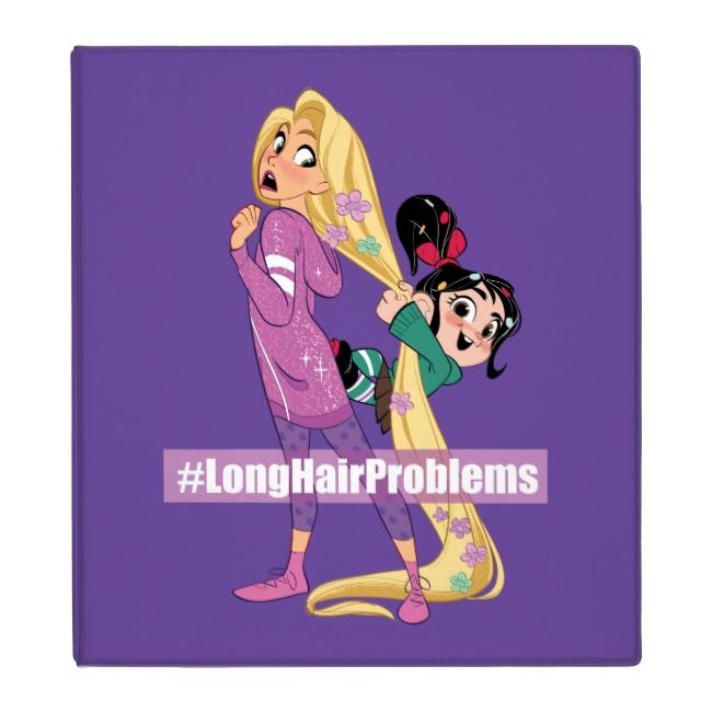 Ralph Breaks the Internet   #LongHairProblems 3 Ring Binder   Zazzle.com