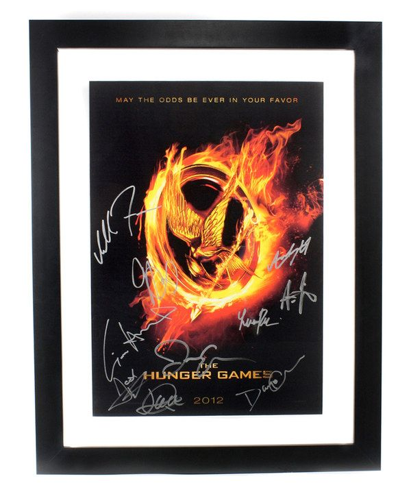 Soooo want it! Look at this The Hunger Games Autographed Framed Lithograph Print on #zulily today!