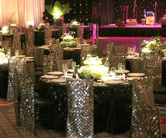 Silver Bling Wedding Decoration Ideas