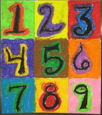 Jasper Johns Alphabet Art Project